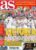 Portada diario AS del 20 de Octubre de 2013