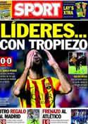 Portada diario Sport del 20 de Octubre de 2013