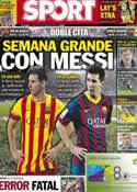 Portada diario Sport del 21 de Octubre de 2013