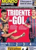 Portada Mundo Deportivo del 21 de Octubre de 2013