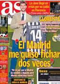 Portada diario AS del 22 de Octubre de 2013