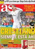 Portada diario AS del 24 de Octubre de 2013