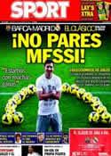Portada diario Sport del 24 de Octubre de 2013
