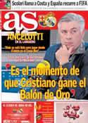 Portada diario AS del 25 de Octubre de 2013