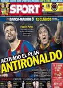 Portada diario Sport del 25 de Octubre de 2013
