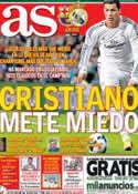 Portada diario AS del 26 de Octubre de 2013