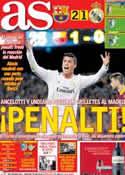 Portada diario AS del 27 de Octubre de 2013