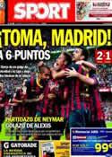 Portada diario Sport del 27 de Octubre de 2013