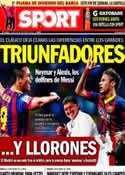 Portada diario Sport del 28 de Octubre de 2013