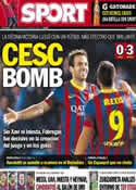 Portada diario Sport del 30 de Octubre de 2013
