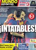 Portada Mundo Deportivo del 30 de Octubre de 2013