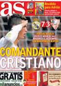 Portada diario AS del 31 de Octubre de 2013