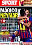 Portada diario Sport del 2 de Noviembre de 2013