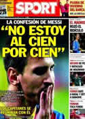 Portada diario Sport del 3 de Noviembre de 2013