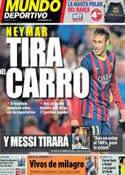 Portada Mundo Deportivo del 3 de Noviembre de 2013