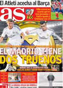 Portada diario AS del 4 de Noviembre de 2013