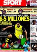 Portada diario Sport del 4 de Noviembre de 2013