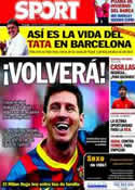 Portada diario Sport del 5 de Noviembre de 2013