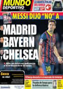 Portada Mundo Deportivo del 5 de Noviembre de 2013