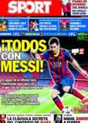 Portada diario Sport del 6 de Noviembre de 2013