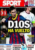 Portada diario Sport del 7 de Noviembre de 2013