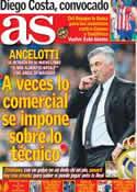 Portada diario AS del 8 de Noviembre de 2013