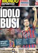 Portada Mundo Deportivo del 8 de Noviembre de 2013