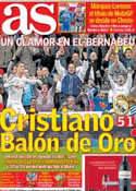 Portada diario AS del 10 de Noviembre de 2013