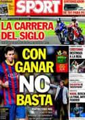 Portada diario Sport del 10 de Noviembre de 2013