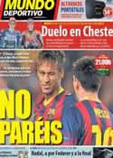 Portada Mundo Deportivo del 10 de Noviembre de 2013