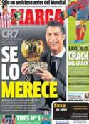 Portada diario Marca del 12 de Noviembre de 2013