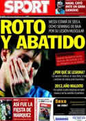 Portada diario Sport del 12 de Noviembre de 2013