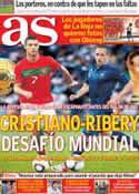 Portada diario AS del 13 de Noviembre de 2013