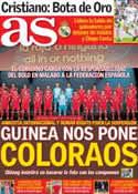 Portada diario AS del 14 de Noviembre de 2013