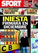 Portada diario Sport del 14 de Noviembre de 2013