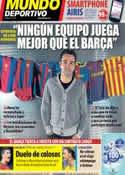 Portada Mundo Deportivo del 15 de Noviembre de 2013