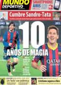 Portada Mundo Deportivo del 16 de Noviembre de 2013