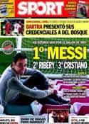 Portada diario Sport del 17 de Noviembre de 2013
