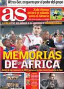 Portada diario AS del 18 de Noviembre de 2013