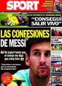Portada diario Sport del 18 de Noviembre de 2013