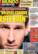 Portada Mundo Deportivo del 18 de Noviembre de 2013