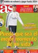 Portada diario AS del 21 de Noviembre de 2013