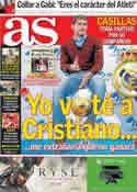 Portada diario AS del 22 de Noviembre de 2013