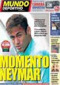 Portada Mundo Deportivo del 23 de Noviembre de 2013