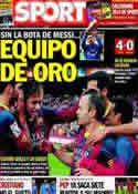 Portada diario Sport del 24 de Noviembre de 2013