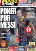Portada Mundo Deportivo del 24 de Noviembre de 2013
