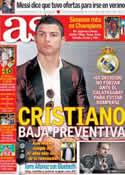 Portada diario AS del 25 de Noviembre de 2013