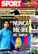 Portada diario Sport del 25 de Noviembre de 2013