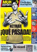 Portada Mundo Deportivo del 25 de Noviembre de 2013