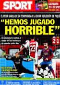 Portada diario Sport del 27 de Noviembre de 2013
